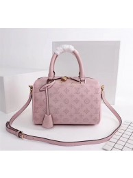Replica Louis Vuitton Mahina Leather SPEEDY BANDOULIERE 30 M40431 pink HN02737